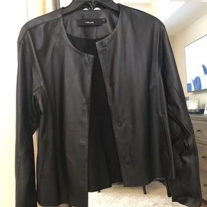 Real J Brand Leather Jacket